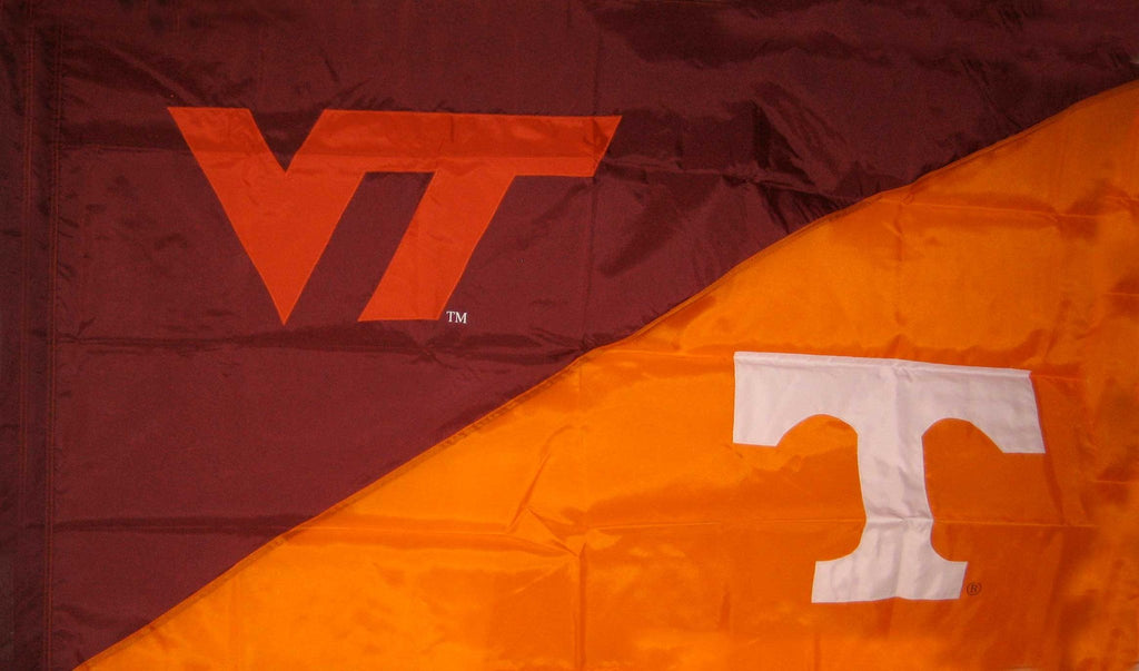 Virginia Tech & Tennessee House Divided Flag