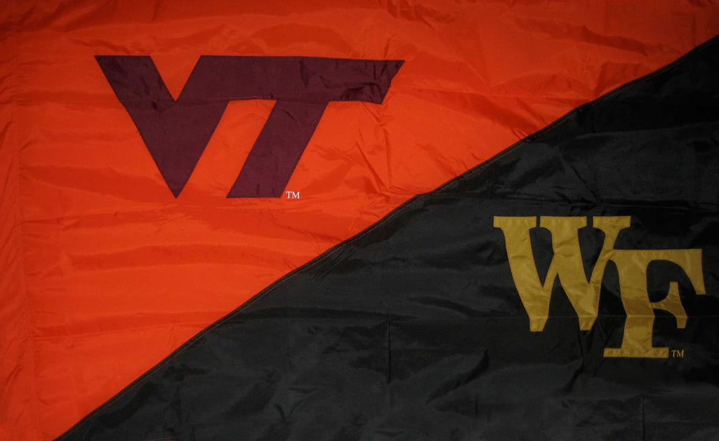 Virginia Tech & Wake Forest House Divided Flag