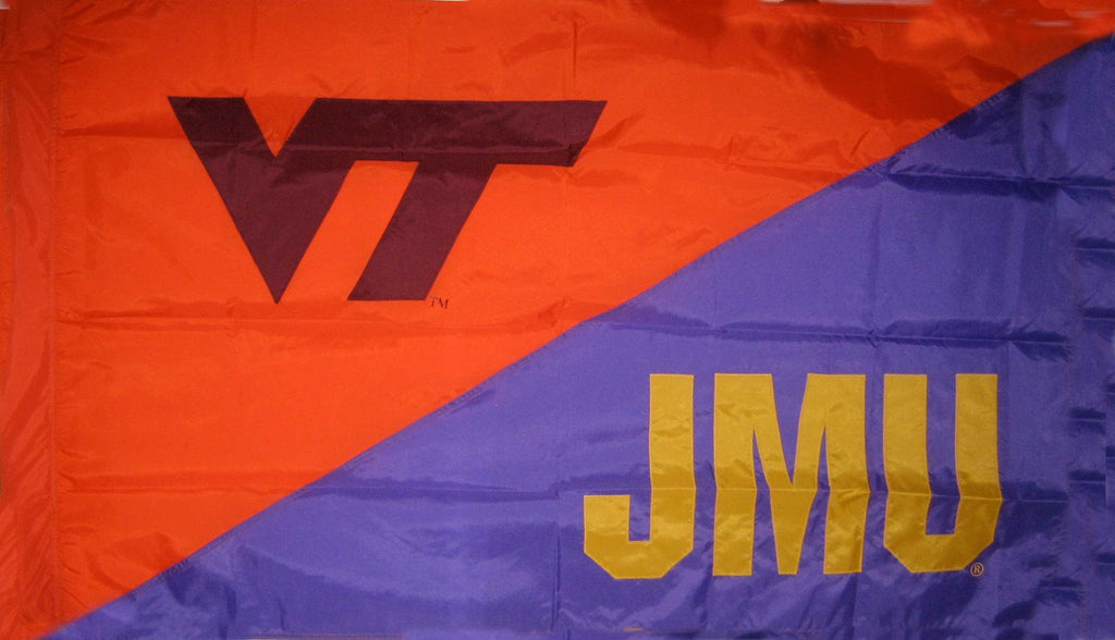 Virginia Tech & James Madison House Divided Flag