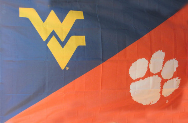 West Virginia & Clemson House Divided Flag