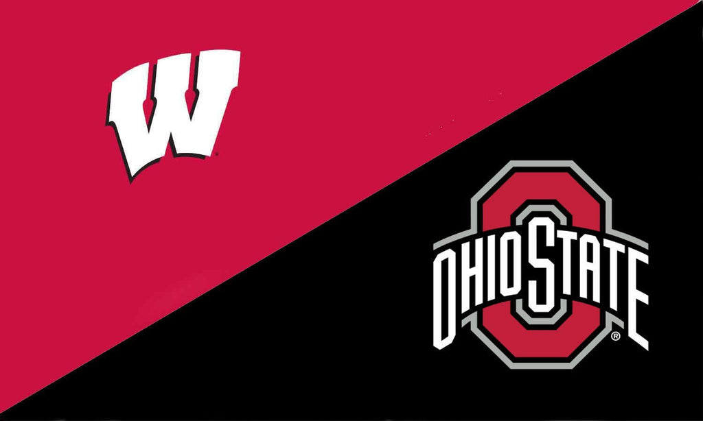 Wisconsin and The Ohio State University House Divided Flag