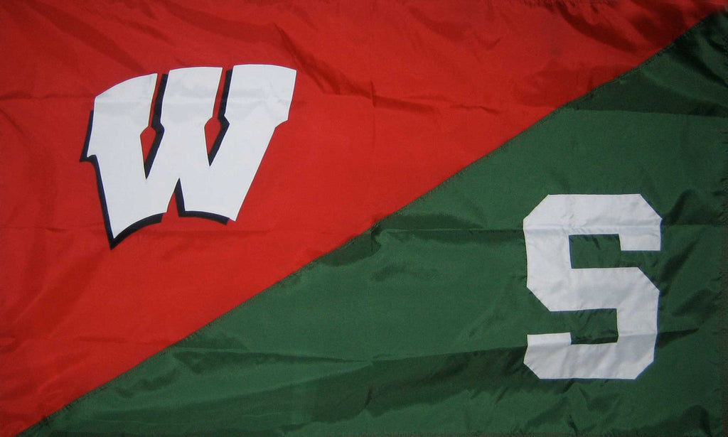 Wisconsin & Michigan State House Divided Flag
