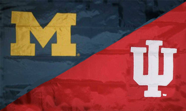 Michigan & Indiana House Divided Flag
