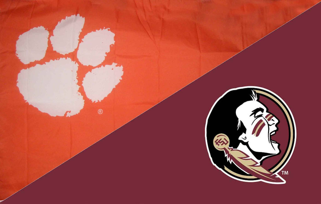 Clemson & Florida State House Divided Flag