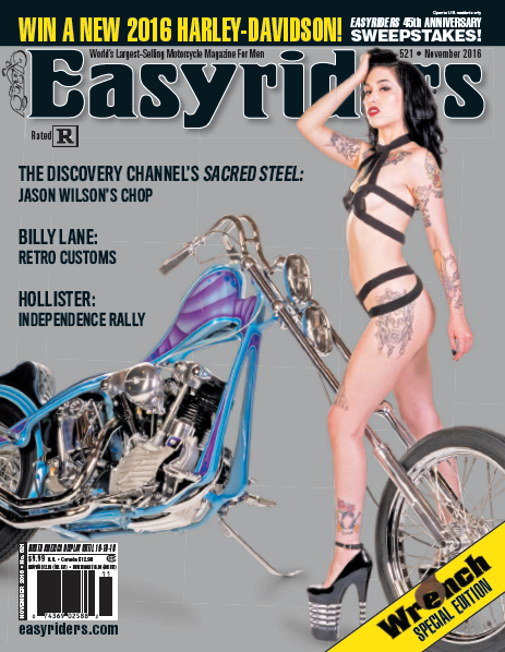 Easy Riders Magazine Cover - Sacred Steel Bikes
