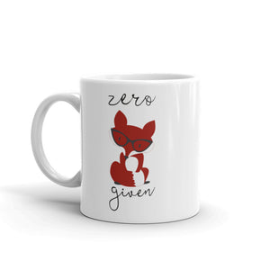Zero Fox Given Mug (fancy fox print)