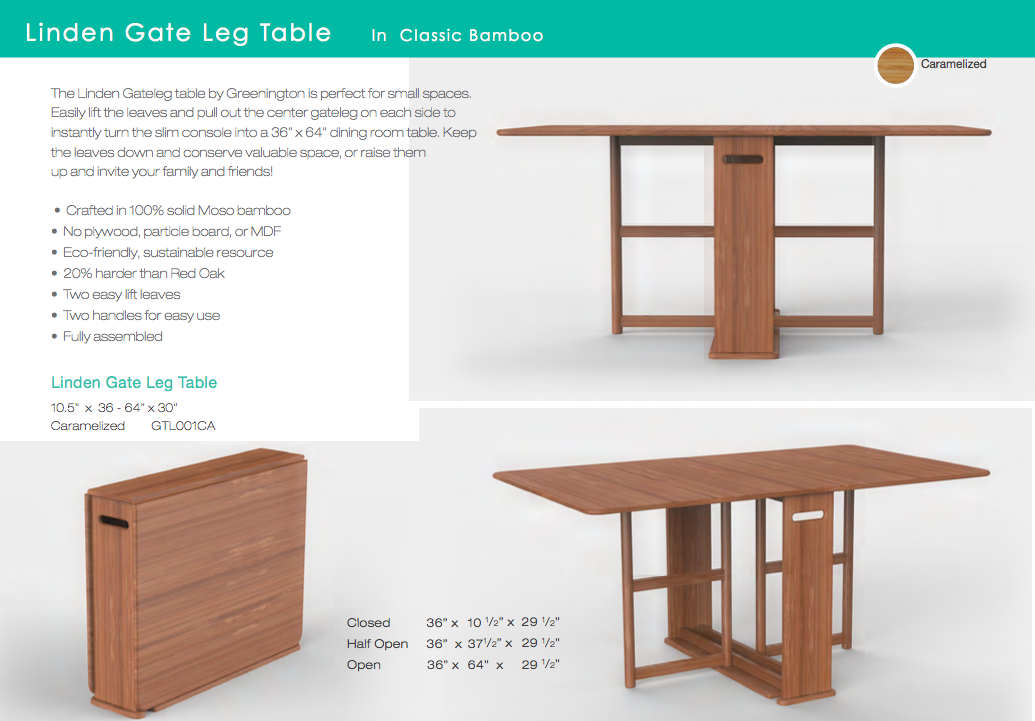 Greenington-Linden-Gateleg-Table