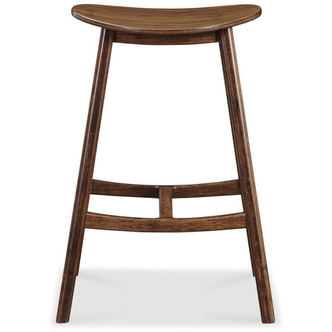 Greenington Modern Bamboo Skol Bar Height Stool, Caramelized or Exotic (set of 2) Bar Stools - bamboomod
