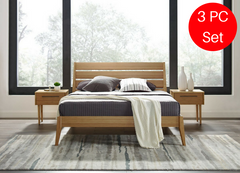 3pc Greenington Sienna Modern Bamboo Eastern King Bedroom Set (Includes: 1 Eastern King Bed & 2 Nightstands) Beds - bamboomod