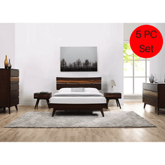 5pc Greenington Azara Modern Bamboo Queen Platform Bedroom Set (Includes: 1 Queen Bed, 2 Nightstands, 2 Dressers)