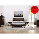 5pc Greenington Azara Modern Bamboo Platform California King Bedroom Set (Includes: 1 California King Bed, 2 Nightstands, 2 Dressers)