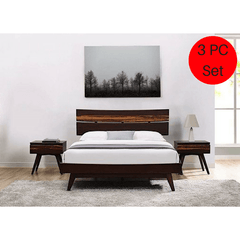 3pc Greenington Azara Modern Bamboo Queen Platform Bedroom Set (Includes: 1 Queen Bed & 2 Nightstands)
