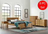 5pc Greenington Hosta Modern California King Bedroom Set (Includes: 1 California King Bed, 2 Nightstands, 2 Dressers) Beds - bamboomod