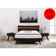 3pc Greenington Azara Modern Bamboo Platform California King Bedroom Set (Includes: 1 California King Bed & 2 Nightstands) Beds - bamboomod
