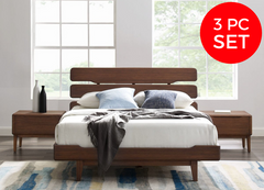 3pc Greenington Currant Modern Eastern King Platform Bedroom Set (Includes: 1 Eastern King Bed & 2 Nightstands)