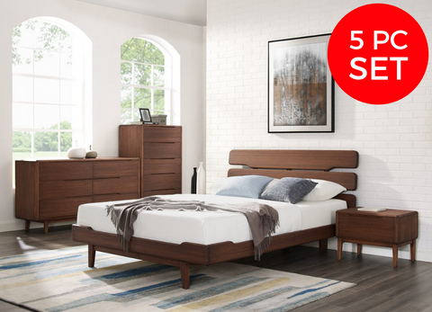 5pc Greenington Currant Modern Queen Platform Bedroom Set (Includes: 1 Queen Bed, 2 Nightstands, 2 Dressers)