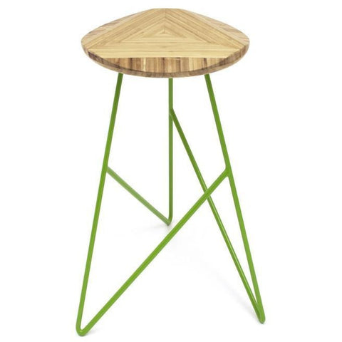 Brave Space Design Modern Bamboo Acute Middle Stool Bar Stools - bamboomod