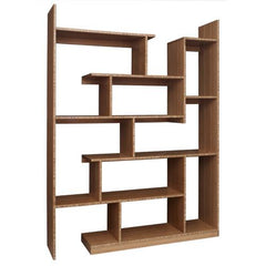 Brave Space Design Modern Bamboo Stagger Metro Shelving - bamboomod