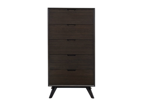 Greenington Vale Five Drawer Chest, Havana - Nightstands & Dressers - Bamboo Mod - 1