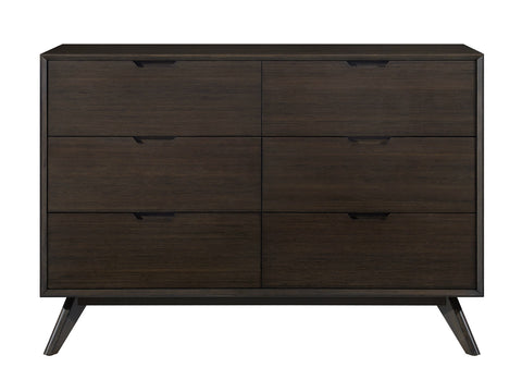 Greenington Vale Six Drawer Double Dresser, Havana - Nightstands & Dressers - Bamboo Mod - 1