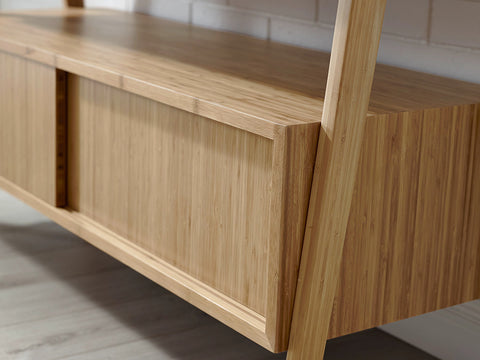 Greenington Terrace Media Unit, Caramelized - Media Cabinet - Bamboo Mod - 9