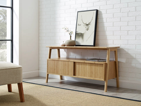 Greenington Terrace Media Unit, Caramelized - Media Cabinet - Bamboo Mod - 11