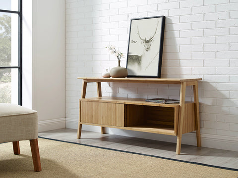 Greenington Terrace Media Unit, Caramelized - Media Cabinet - Bamboo Mod - 12