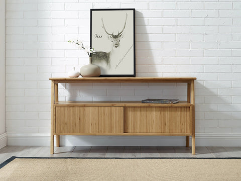 Greenington Terrace Media Unit, Caramelized - Media Cabinet - Bamboo Mod - 13