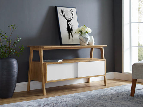 Greenington Terrace Media Unit, Caramelized - Media Cabinet - Bamboo Mod - 14