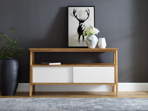 Greenington Terrace Media Unit, Caramelized - Media Cabinet - Bamboo Mod - 15