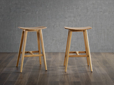 "Greenington Tigris 26"" Counter Height Stool, Caramelized With Exotic Tiger Inlay, (Set of 2) - Stool - Bamboo Mod - 5"