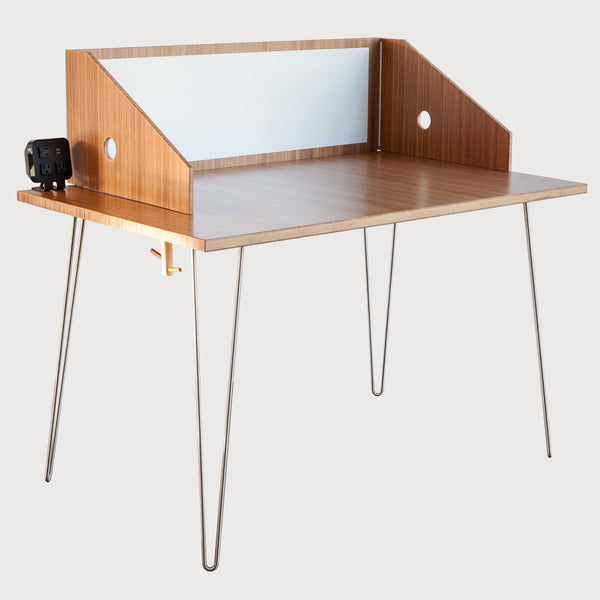 El Dot Designs Modern Sustainable Bamboo Workstation Desk Desks - bamboomod