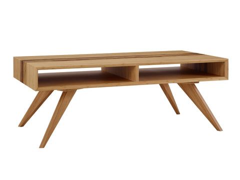 Greenington Azara Tiger Coffee Table With Tiger Exotic Inlay, Caramelized Coffee Tables - bamboomod