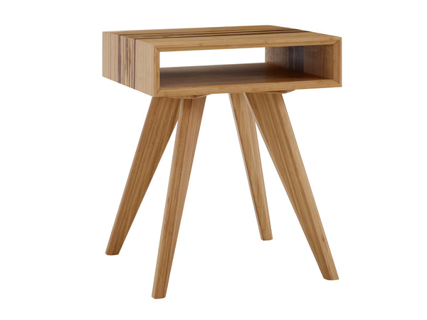 Greenington Azara Tiger End Table With Tiger Exotic Inlay, Caramelized - GA0011CA Side Tables - bamboomod