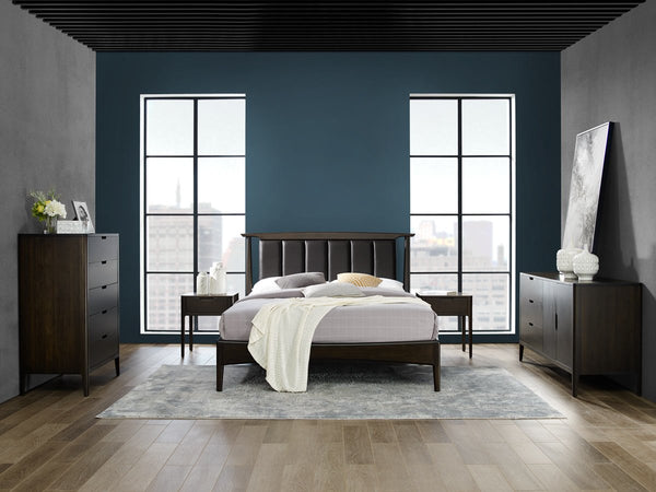 5pc Greenington Cypress Modern Bamboo Eastern King Platform in Havana Bedroom Set (Includes: 1 Eastern King Bed, 2 Nightstands, 2 Dressers) Beds - bamboomod