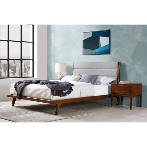 Greenington Mercury Modern Bamboo Upholstered Queen Bed, Exotic - GM001E Beds - bamboomod