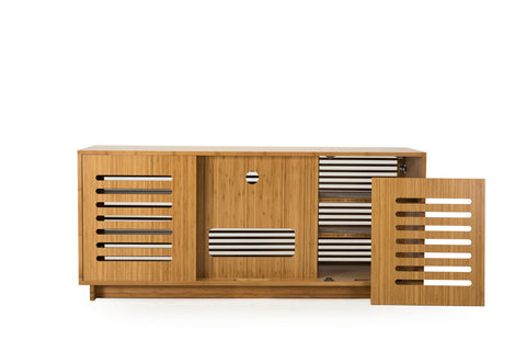 "Greenington 64"" Rowan Media Center, Caramelized - 0 - Bamboo Mod - 3"