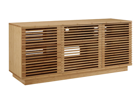 "Greenington 64"" Rowan Media Center, Caramelized - 0 - Bamboo Mod - 9"