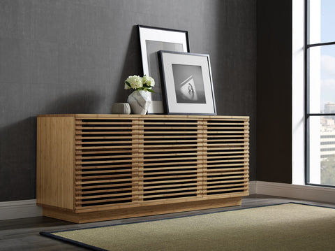 "Greenington 64"" Rowan Media Center, Caramelized - 0 - Bamboo Mod - 11"