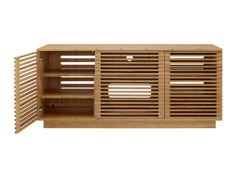 "Greenington 64"" Rowan Media Center, Caramelized - 0 - Bamboo Mod - 13"