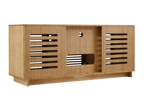 "Greenington 64"" Rowan Media Center, Caramelized - 0 - Bamboo Mod - 17"