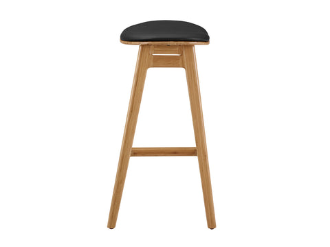 "Greenington Skol 30"" Bar Height Stool With Leather Seat, Caramelized, (Set of 2) Bar Stools - bamboomod"