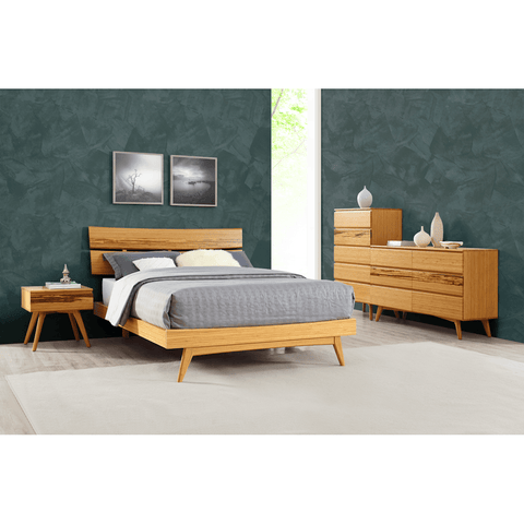 greenington modern solid bamboo azara california king platform bed - Cal King Platform Bed Frame