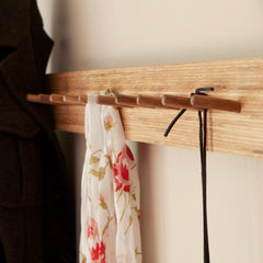El Dot Designs Modern Sustainable Bamboo Knot For Ties Wall Hanger Wall Hangers - bamboomod
