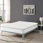 "2"" Relax Bamboo Gel Memory Foam Mattress Topper in White Mattress Topper - bamboomod"