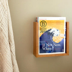 El Dot Designs Modern Sustainable Bamboo Vista Wall Magazine Holder Wall Hangers - bamboomod