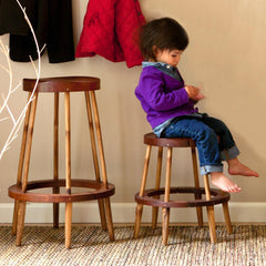 El Dot Designs Modern Sustainable Bamboo Rhino Kid's Stool Bar Stools - bamboomod