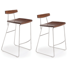Greenington Modern Bamboo City Lights - Paris Counter Height Stool With Back Bar Stools - bamboomod