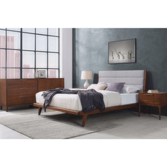 5pc Greenington Mercury Modern Bamboo California King Bedroom Set (Includes: 1 California King Bed, 2 Nightstands, 2 Chests) Beds - bamboomod