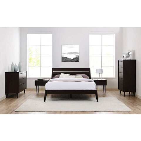 5pc Greenington Sienna Modern Bamboo Eastern King Platform Bedroom ...